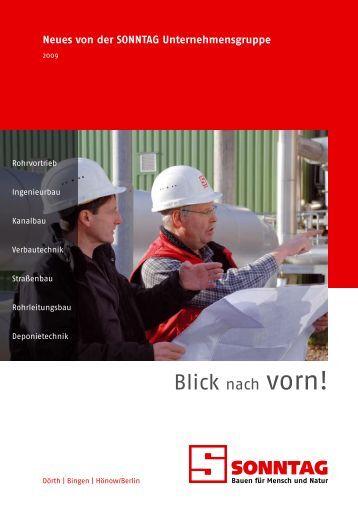 Blick nach vorn! - Sonntag Baugesellschaft mbH & Co. KG