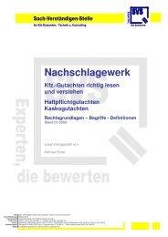 Kfz-Gutachten richtig lesen und verstehen - SVS - Sach ...