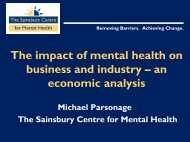 The Impact of Mental Health on Business and Industry - Centre for ...