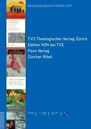 TVZ Theologischer Verlag Zürich Edition NZN bei TVZ Pano Verlag ...