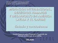 Migración internacional, derechos humanos y desarrollo en ... - Cepal