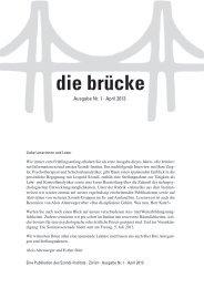 die brücke – Ausgabe Nr. 1 – April 2013 - Szondi-Institut