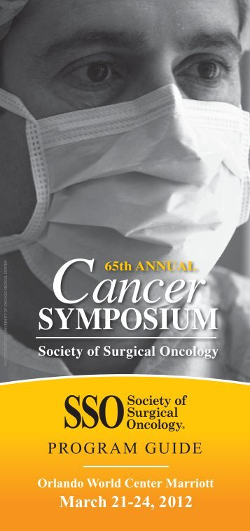 Onsite Program Guide - Society of Surgical Oncology