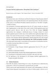 1 Christoph Zöpel European Industrial Agglomerations: Metropolitan ...