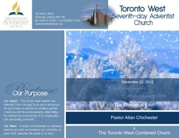 April 2, 2011 Christ Is Bro. Norman Brown - Toronto West Seventh ...