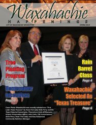 Spring 2010 - City of Waxahachie