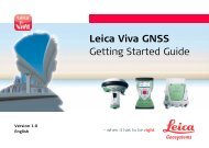 Leica Viva GNSS Getting Started Guide - Gefos