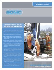sonic drilling ltd. advantages of sonic drilling for water well ...