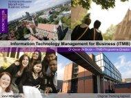 ITMB - Manchester Business School
