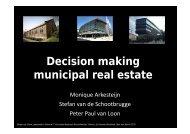 Decision making municipal real estate