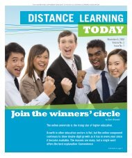 Join the winners' circle - United States Distance Learning Association
