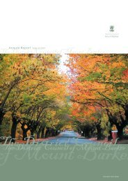 Annual Report 2006-07 - District Council of Mount Barker - SA.Gov.au