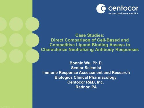 Case Studies: Direct Comparison of Cell-Based and Competitive ...