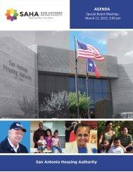 March 21, 2013 - San Antonio Housing Authority
