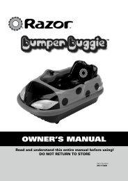 Razor Bumper Buggie Owners Manual - ElectricScooterParts.com