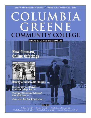 New Courses, Online - Columbia-Greene Community College
