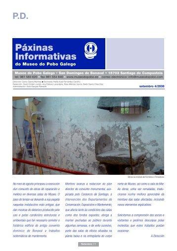 Páxinas Informativas setembro 2008 - Museo do Pobo Galego