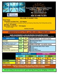 SEPT. 10—NOV. 11, 2012 ADMISSION RATES for POOL and ...