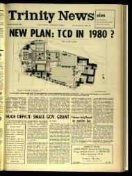 N'EW PLAN: TCD IN /980 .7 - Trinity News Archive