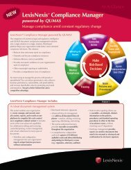 LexisNexis® Compliance Manager powered by QUMAS