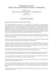 Accordo dei Popoli sul clima - Cooperazione Italiana allo Sviluppo