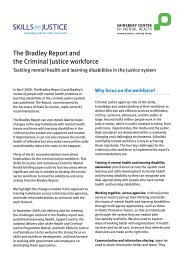 The Bradley Report and the Criminal Justice workforce - Centre for ...