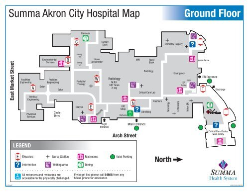 Ground Floor Summa Akron City Hospital Map - Summa Health