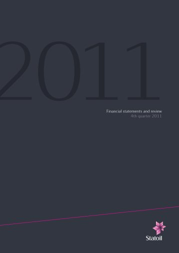2011 fourth quarter results - Statoil