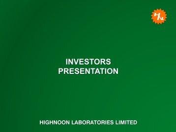INVESTORS PRESENTATION - Lahore Stock Exchange