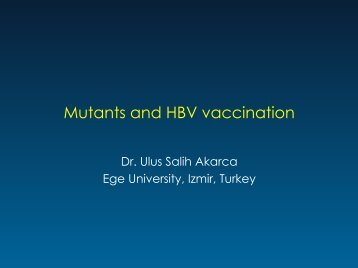 Mutants and HBV vaccination - Viral Hepatitis Prevention Board
