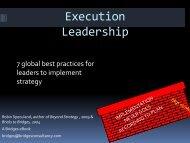 Execution Leadership - Bridges Business Consultancy
