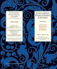 Columbia Publishing Course - Columbia University Graduate ...