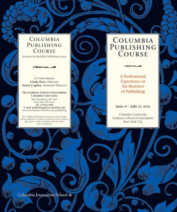 Columbia Publishing Course - Columbia University Graduate ...