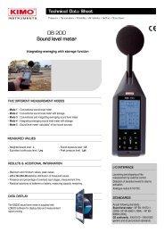 DB 200 Sound level meter - om.gr