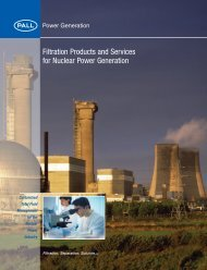 Filtration Products and Services for Nuclear Power Generation