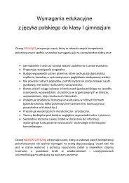 Wymagania edukacyjne z języka polskiego do ... - bajkowa.waw.pl