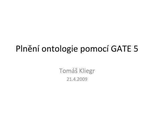 Návod pro práci s GATE