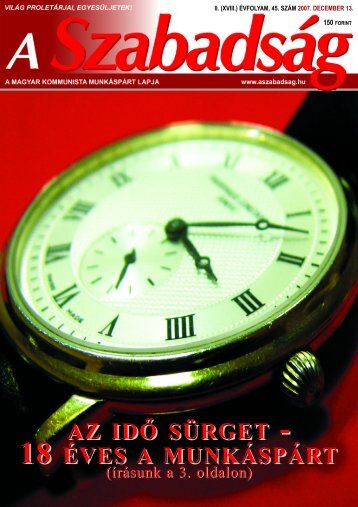 45. szám - 2007. december 13. - A Szabadság