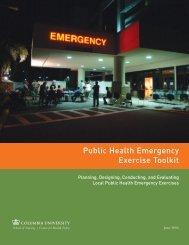 Public Health Emergency Exercise Toolkit - Columbia University ...