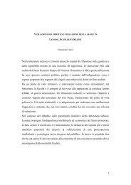 Violazione del diritto e violazione della legge in Lessing, Schiller e ...