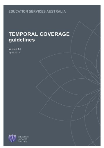 TEMPORAL COVERAGE guidelines