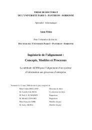 Ingénierie de l'alignement : Concepts, Modèles et Processus - LIFL