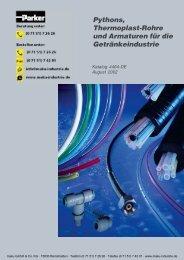 Katalog: 73-4462-DE Polyflex Thermoplast-Schläuche für ... - Parker