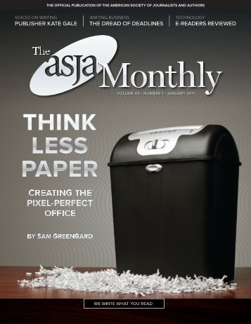 January 2011 - The ASJA Monthly