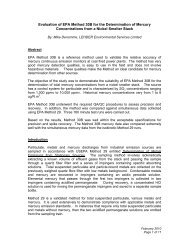 Evaluation of EPA Method 30B for the ... - Ohio Lumex Co.