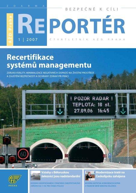 Reportér 2007/1 - AŽD Praha, sro