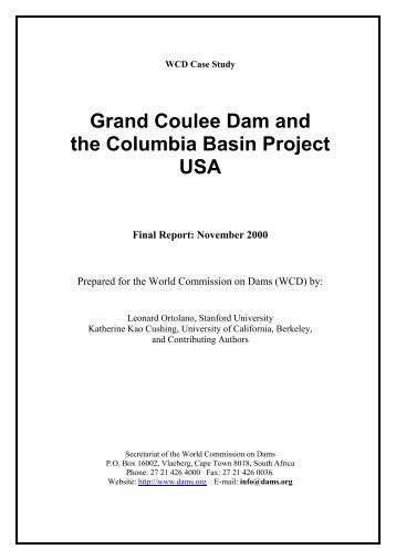 Grand Coulee Dam - Case Study - Centre International de ...