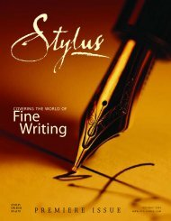 Fine Writing - Stylus Magazine