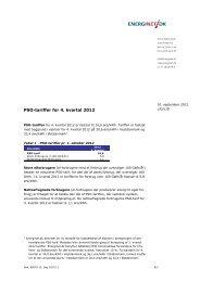 PSO-tariffer for 4. kvartal 2012 - Energinet.dk