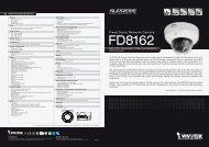 Vivotek FD8162 Data Sheet